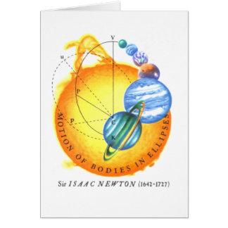 Newton Elliptical Orbits Greeting Card