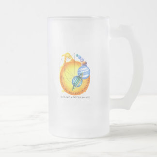 Newton Elliptical Orbits Frosted Glass Beer Mug