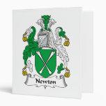 Newton Family Crest 3 Ring Binder
