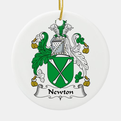 Newton Family Crest Christmas Tree Ornaments