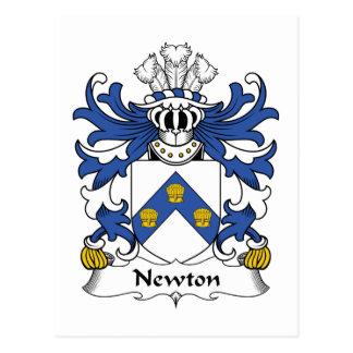 Newton Family Crest Postcard