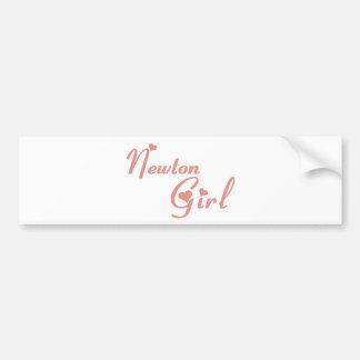 Newton Girl tee shirts Car Bumper Sticker