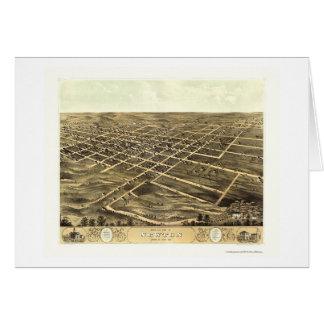 Newton, IA Panoramic Map - 1868 Card