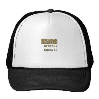 Newton law  of motion trucker hat