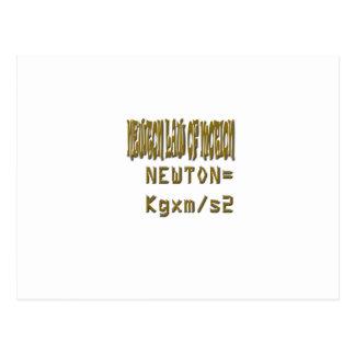 Newton law  of motion postcard
