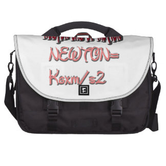 Newton law of motion Red Color Commuter Bags