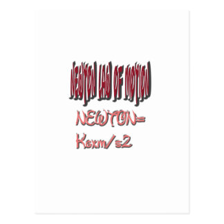 Newton law  of motion Red Color Postcard