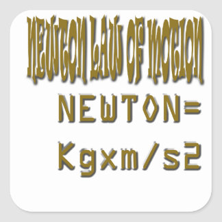 Newton law  of motion square sticker