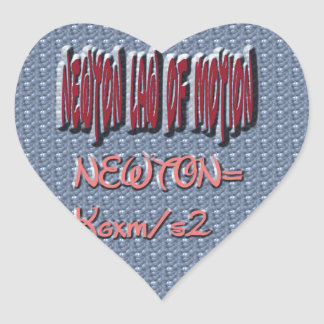 Newton Law of Motion Sweet Pattern Heart Sticker