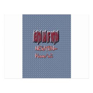 Newton Law of Motion Sweet Pattern Postcard