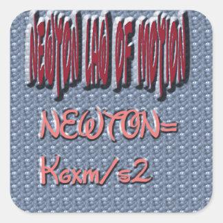 Newton Law of Motion Sweet Pattern Square Sticker