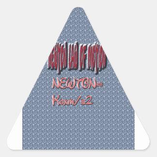 Newton Law of Motion Sweet Pattern Triangle Sticker