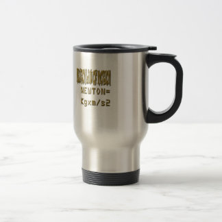 Newton law  of motion travel mug