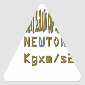 Newton law  of motion triangle sticker