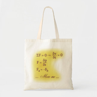 Newton Laws of Motion Canvas Bags