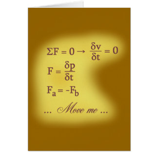 Newton Laws of Motion Card