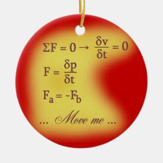 Newton Laws of Motion Ceramic Ornament