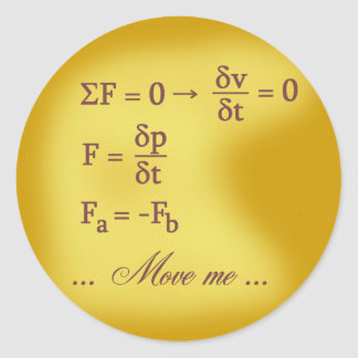 Newton Laws of Motion Classic Round Sticker