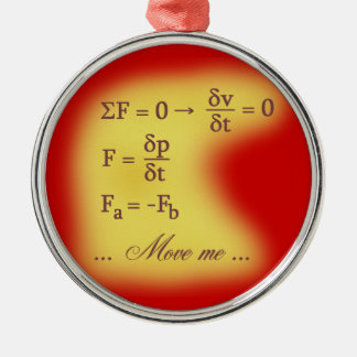 Newton Laws of Motion Metal Ornament