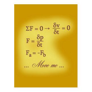 Newton Laws of Motion Postcard