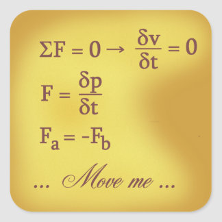 Newton Laws of Motion Square Sticker