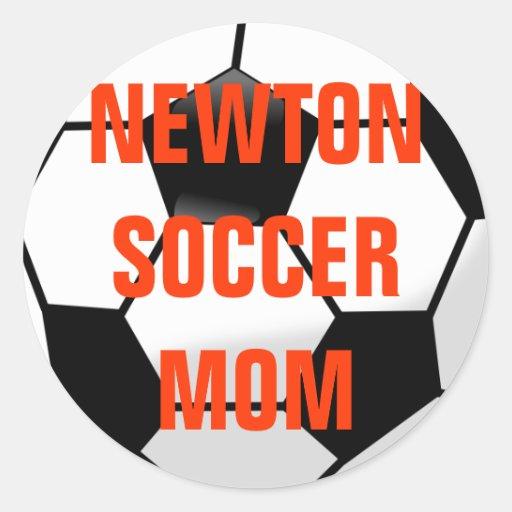 Newton MA Soccer Mom Sticker