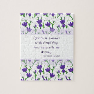 Newton Nature Quote with Spring Crocus Flowers Puzzles