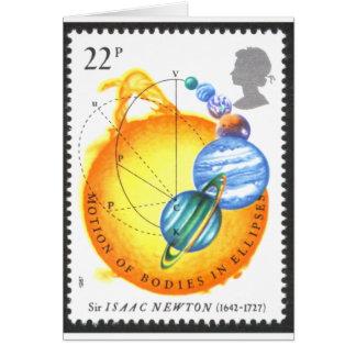 Newton Orbits Greeting Card