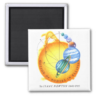 Newton Orbits 2 Inch Square Magnet