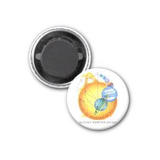 Newton Orbits 1 Inch Round Magnet