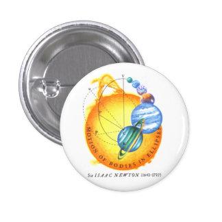 Newton Orbits Pinback Button