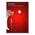 Newton - postal invitaciones personales