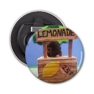 Newton quiere vender un poco de limonada abrebotellas redondo