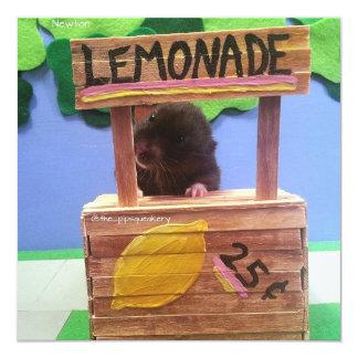 """Newton quiere vender un poco de limonada invitación 5.25"""" x 5.25"""""""