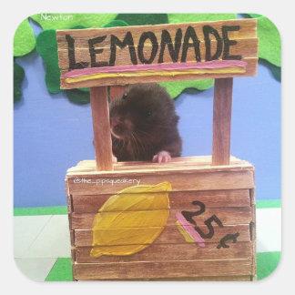 Newton quiere vender un poco de limonada pegatina cuadrada