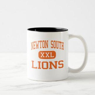 Newton South - Lions - High - Newton Center Two-Tone Coffee Mug