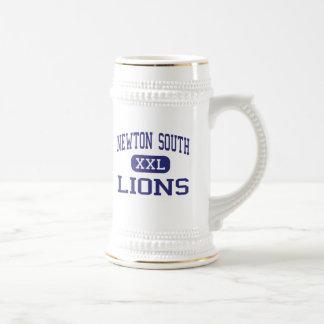 Newton South - Lions - High - Newton Massachusetts Beer Stein