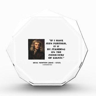 Newton Standing On The Shoulders Of Giants Acrylic Award