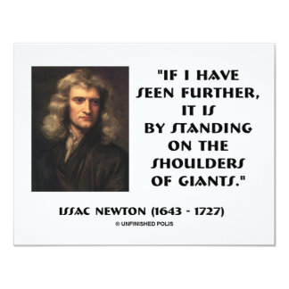 Newton Standing On The Shoulders Of Giants Card
