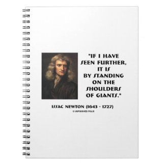 Newton Standing On The Shoulders Of Giants Notebook