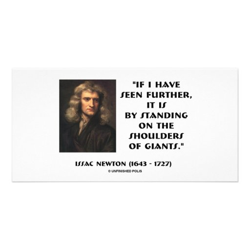 Newton Standing On The Shoulders Of Giants Photo Cards