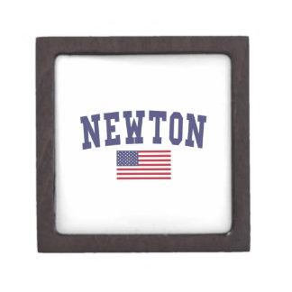 Newton US Flag Jewelry Box