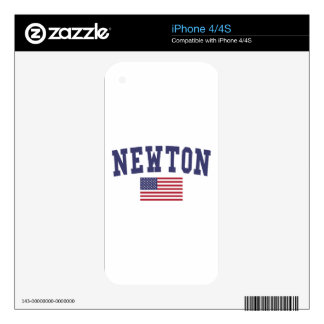 Newton US Flag Skin For iPhone 4S