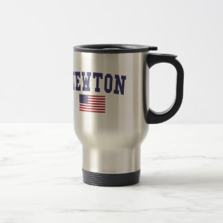 Newton US Flag Travel Mug
