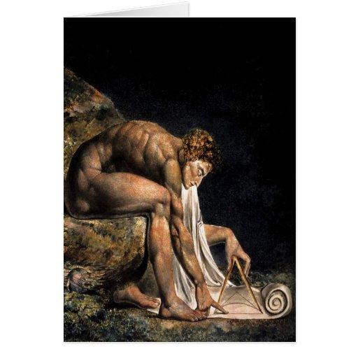 Newton William Blake Masonic Painting Greeting Cards