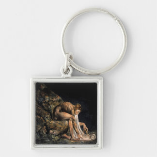 Newton William Blake Masonic Painting Keychain