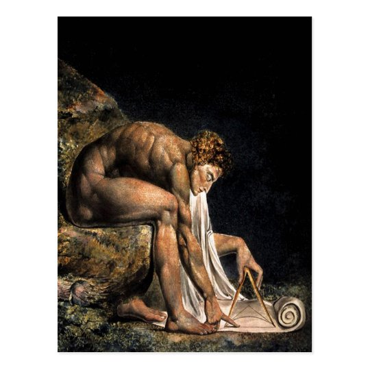 Newton William Blake Masonic Painting Postcard