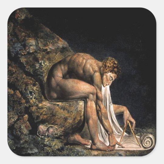 Newton William Blake Masonic Painting Square Sticker