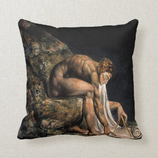 Newton William Blake Masonic Painting Throw Pillow