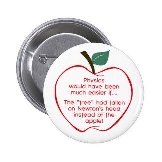 Newton's apple button